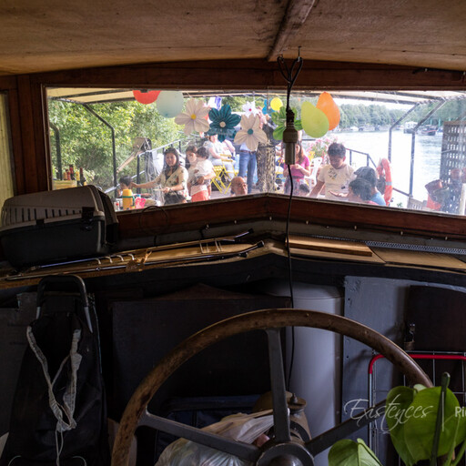 Fiesta on a barge